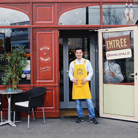 David Hsu restaurant La Villa Mantes
