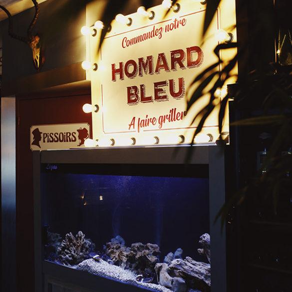 Homard bleu dans votre restaurant la Villa Mantes
