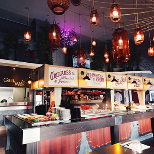 Restaurant la Villa Mantes et son buffet à volonté