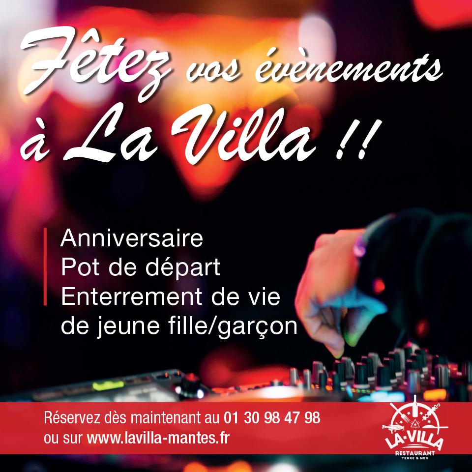 Venez fêter vos évènements au restaurant La Villa